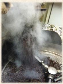 焙煎の様子の写真