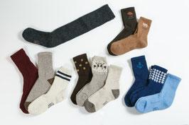 羊ウール100%の靴下の写真